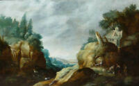 "oil painting  on canvas""  A mountainous river landscape "" N10218"