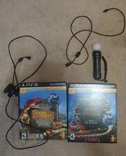 PS3 Playstation Move Bundle, New Move Games, Motion Controller & Camera