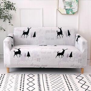 Christmas Sofa Covers 2 3 Seater Universal Fitting Stretch Slipcover Protectors