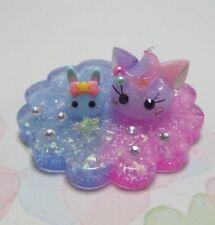 Cat Hoppe Chan & Rabbit Hoppe Chan on Shining Coaster Kawaii