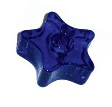 """Blue Glass Star Candleholder for 1/2"""" Candles"""