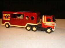 Buddy L 1980 Pressed Steel Horse Tractor Trailer - Made in Japan
