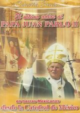 SEALED - El Ultimo Adios Al Papa Juan Pablo II DVD NEW Catedral De Mexico SEALED