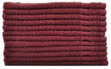 24 (2 doz) new burgundy salon hand towels dobby border ringspun cotton 16x27 3#