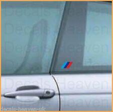 2x BMW M Motorsport Logo Stripes Decal Sticker 6x3 cm M3 M5 Z3 Z4 X5 M Series