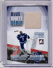 TIM HORTON /08 ITG Franchises Maple Leafs Blue and White Debut Jersey #8/9 SP