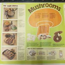 More details for vintage poster educational school mushrooms teaching aids mcm 1977 92 cm x 63 cm