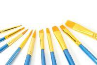 10er Set Künstlerpinsel für Wasserfarben Ölmalerei Acrylfarben Aquarellmalerei