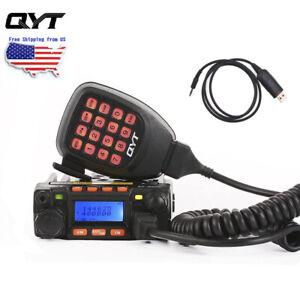 QYT Mini KT-8900 Dual Band Car/Truck Ham Mobile Transceiver 25W 2 Way Radio USB