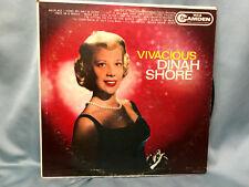 Dinah Shore Vivacious Record RCA Camden CAL-572 Mono 1960 Vinyl