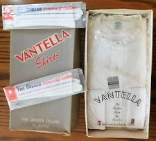 """Vintage Vantella tunic shirt Cotella UNUSED size 17 1/2"""" 1950s collarless UNUSED"""