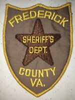 """Large 4"""" x 5"""" Frederick County Police Sheriff's Department Patch Virginia VA"""