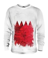Bahreïn Drapeau Grunge Unisexe Pull Al-Ba ? Rayn Football Bahreïn Cadeau T-Shirt