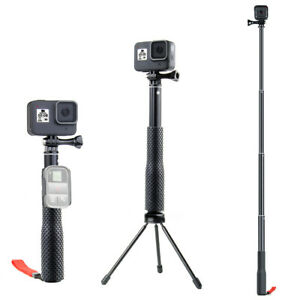 Extendable Monopod Selfie Stick with Tripod Adapter Mount for GoPro Hero 8/7/6/5