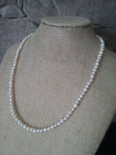 """20"""" HANDMADE SILVER PLATED FRESH WATER PEARL & CRYSTAL NECKLACE"""