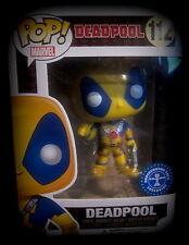 Deadpool-Yellow costume-Limited-Vinyl personaje-funko pop! - Marvel