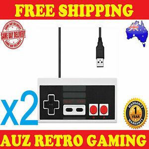 2x NES USB Controller For Original Nintendo PC Mac Windows Control