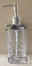 BELLA LUX ROSE DE PROVENCE PARIS GLASS LIQUID SOAP PUMP DISPENSER SILVER ACCENTS