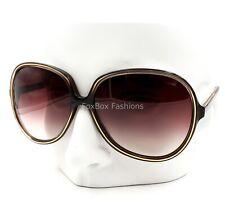 OLIVER PEOPLES Chelsea OTPI Oversized Sunglasses Brown Stripe on Pink 69mm JAPAN