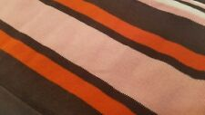 GIRLS JANIE AND JACK PINK~BROWN STRIPES BOW ACCENT KNIT DRESS 3/6MOS