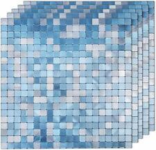 5x Peel and Stick Tile Backsplash Aluminum Surface Mosaic Tiles for Kitchen Wall