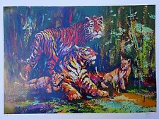 MARK KING BENGAL FAMILY TIGER 210/325 SERIGRAPH 1977 LISTED INDIA ENGLAND CATS