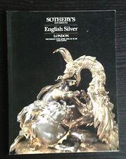 SOTHEBY'S  English Silver 1986 London Catalog