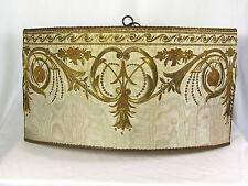 Shade Pendant Light Chandelier Hanging 1930s Antique Fabric Repurposed Custom
