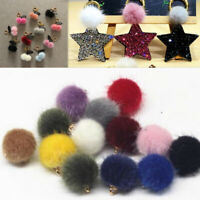 10pcs Mixed Hairball Pendant  Earring Necklace Making DIY Craft Accessories
