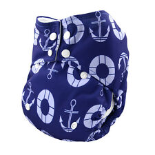 ALVABABY AIO Cloth Pocket Diaper Reusable Washable Nappy +1 Sewed in Insert