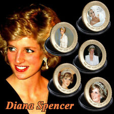 WR 5PCS Princess of Wales Lady Diana Commemorative Coin Set Birthday Gifts Girl