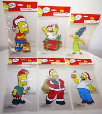 The Simpsons Bart Homer Santa Christmas Holiday Car Window Clings Decal Sticker
