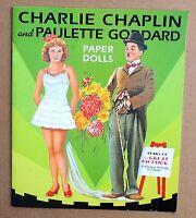 Poupée en carton à habiller. Charlie Chaplin et Paulette Godard. 2001. USA