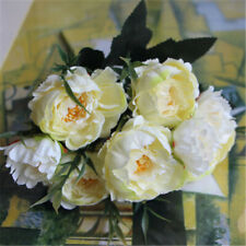 New Silk Peony Artificial Flowers Peony Wedding Bouquet Home Party Decor Gift