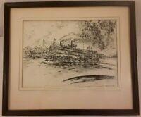 Cincinnati ISLAND QUEEN STEAMBOAT CONEY ISLAND POSTER PRINT EARLY 1900/'S B