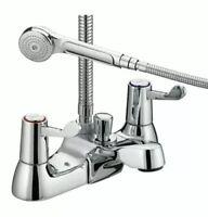 Bristan Value Lever Bath Shower Mixer Tap with Hose & Handset VAL BSM  C CD New