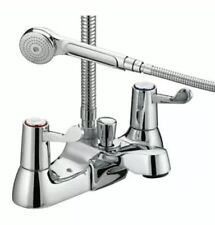 Bristan Value Lever Bath Shower Mixer Tap with Hose & Handset VAL BSM  C CD New