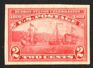 [MD2]...US #373 Mint-NH 1909 Imperf. Hudson-Fulton Single