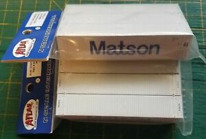 N Atlas 50003832/833 MATSON 45' Containers WHITE  3 packs - package 1 & 2