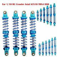 Bleu Oil Aluminium Alliage Amortisseur Pour 1/10 RC Crawler Axial SCX10 TRX4 D90