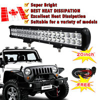 20 inch 126W Cree Led Light Bar Pods Flood Spot Combo Beam SUV ATV Boat Truck