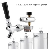 Steel Beer Spear Faucet Tap Dispenser Kit for 2L/3.6L/4L Mini Keg Beer Growler