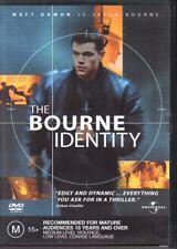 THE BOURNE IDENTITY - DVD R4 (2004) Matt Damon - VG - FREE POST