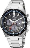 CASIO EQS800CDB-1A Edifice Solar Stainless Steel Water Rest Silver Men's Watch