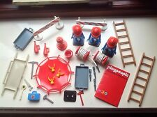 VINTAGE 1970 S Marx Toys playpeople PLAYMOBIL Figure Pompieri Super Set Bundle
