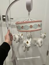 New listing Pottery Barn Kids Musical Crib Unicorn Mobile ~Includes White Mobile Arm