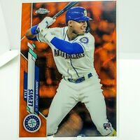 2020 Topps Chrome Kyle Lewis Orange Wave Refractor Rookie Card /25 ROY RC MINT!