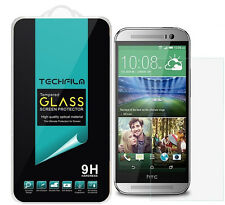 TechFilm® Tempered Glass Screen Protector Saver Shield For HTC One M8
