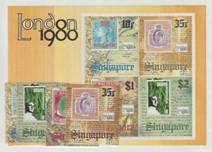 SINGAPORE STAMP-ON-STAMP (349-52a) NH. SCV 8.50