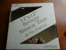 "Stanley Monarch Beveled Mirror Tiles 12"" X 12"" 6 Tiles per Pack"